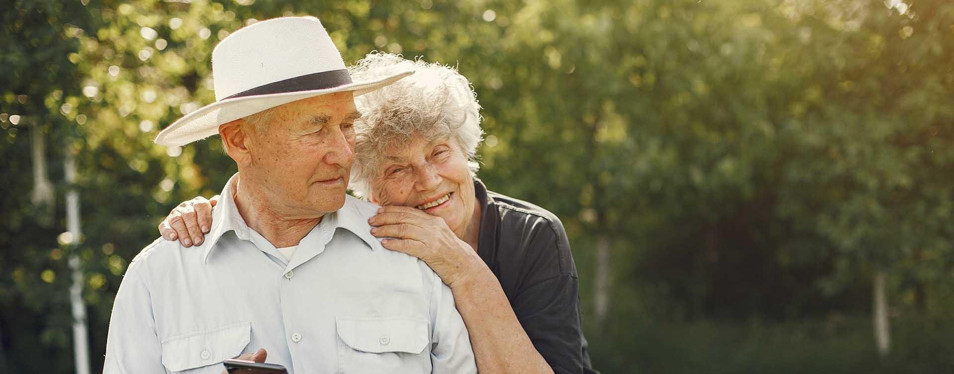 altes ehepaar Immobilien im Alter